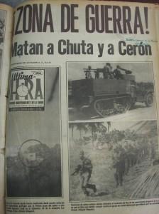 Portada del desaparecido periódico Ultima Hora del 12 de enero de 1972.