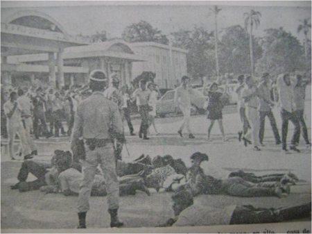 Escena de la ocupación policial de la UASD.