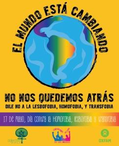 Afiche contra homofobia 2014.