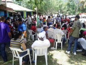 Campamento en Loma Miranda.