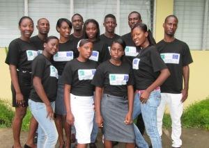 Jóvenes activistas de MUDHA.