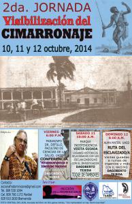 Afiche Jornada sobre el Cimarronaje.