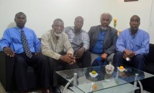 Patrick Moise, presidende de Fedayodeh-RD, Eddy Moise, Auguste Jean, Joseph Serge Merilus, Tissaint Eralien, delegados de la organización.