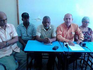Integrantes del Comité por la Transparencia Municipal de San Cristóbal.