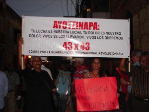 Actividad de solidaridad con estudiantes mexicanos realizada en la UASD.