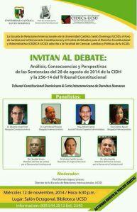 Afiche debate panel