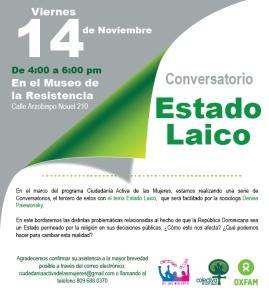 Invitación conversatorio Estado Laico-01