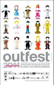 Afiche del Santo Domingo OutFest 2014.