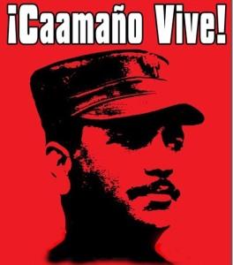 Coronel Caamaño. Foto afiche del Movimiento Caamañista.