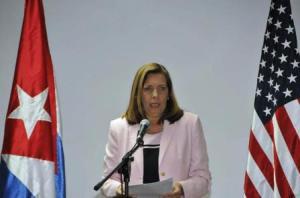 La directora general de Estados Unidos del Ministerio de Relaciones Exteriores de Cuba, Josefina Vidal Ferreiro, dijo que hubo avances en cuanto a temas migratorios. Foto: Juvenal Balán.