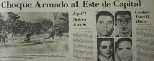 Fotocopia de la  primera plana del Listin Diario.