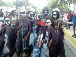 Comparsa participante en el carnaval