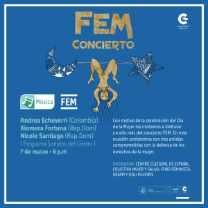 Afiche de difusión del Concierto FEM 2015. nsx