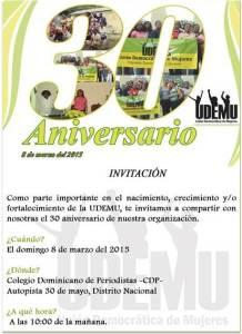Invitación acto de la UDEMU.