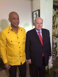 Michel Martelly y José Miguel Insulza. Foto OEA.