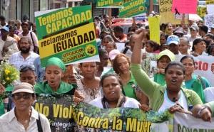 Mujeres en una marcha de protesta.