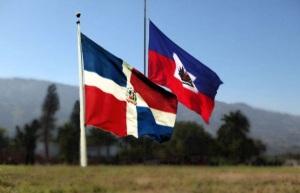 Banderas dominicana y haitiana.
