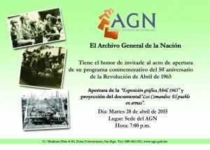 Invitacion de la exposicion de abril 7x5