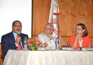 José Ángel Aquino, JCE, Rafael Toribio, del CEGES-INTEC y Luciana Mermet del PNUD.