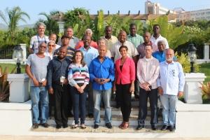 Periodistas participantes en el encuentro en Puerto Príncipe, Haití.