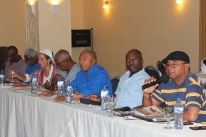 Periodistas RD y Haití en la sesión de trabajo.