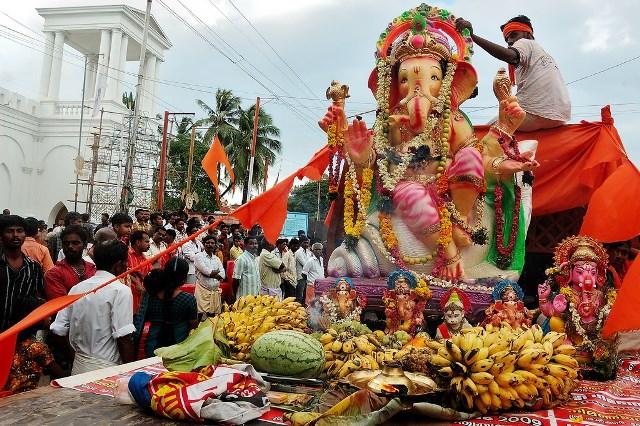 Desfile de la Carroza en Puri, la India
