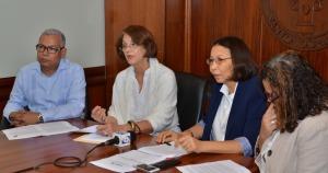 José Féliz, Lourdes Contreras, Elsa Alcántara y Desireé Del Rosario.