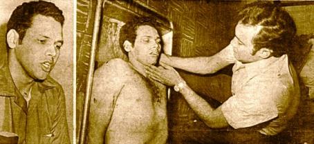 Otto Morales en vida y luego de ser asesinado el 16 de julio de 1970 1